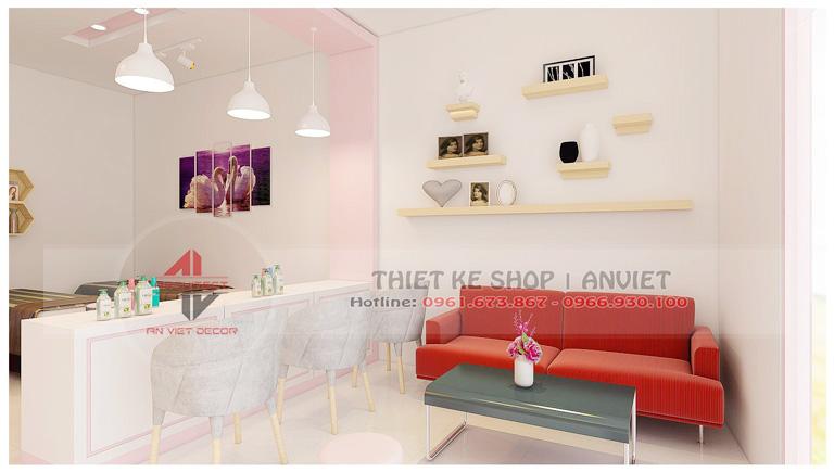 Mẫu thiết kế nội thất tiệm nail 50m2 ở Lạng Sơn 4
