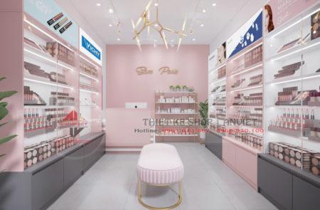 Mẫu thiết kế shop mỹ phẩm nhỏ hiện đại 30m2 tại Hà Tĩnh