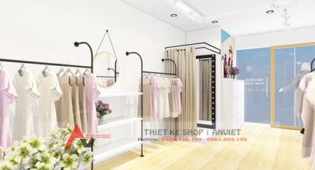 Mẫu thiết kế shop thời trang nữ AboutA nhỏ đẹp 30m2 tại Hà Nội