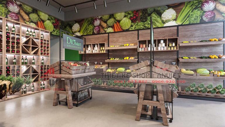 Mẫu thiết kế siêu thị thực phẩm sạch 70m2 tại Hà Nội 1