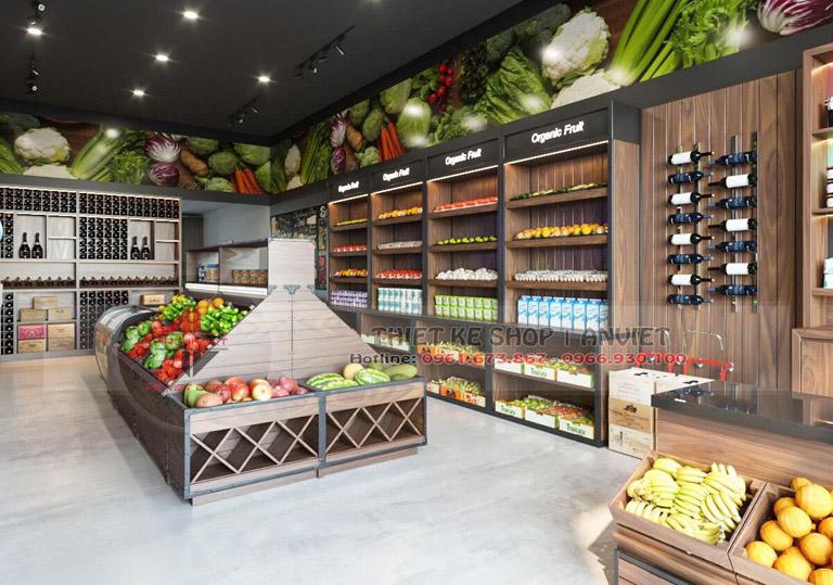 Mẫu thiết kế siêu thị thực phẩm sạch 70m2 tại Hà Nội 2