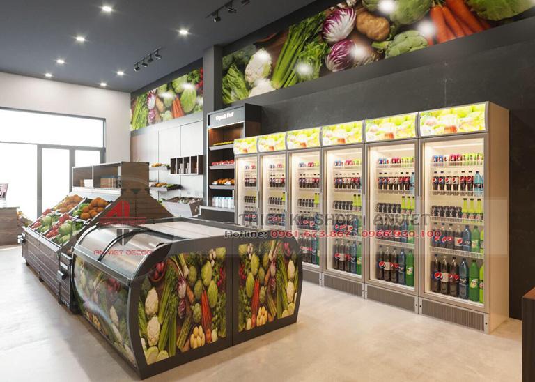 Mẫu thiết kế siêu thị thực phẩm sạch 70m2 tại Hà Nội 3