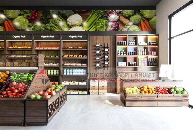 Mẫu thiết kế siêu thị thực phẩm sạch 70m2 tại Hà Nội 4