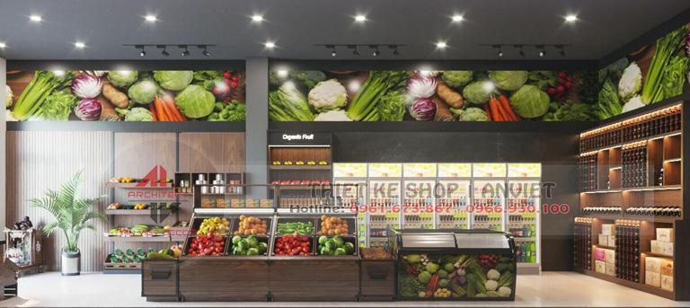 Mẫu thiết kế siêu thị thực phẩm sạch 70m2 tại Hà Nội 5