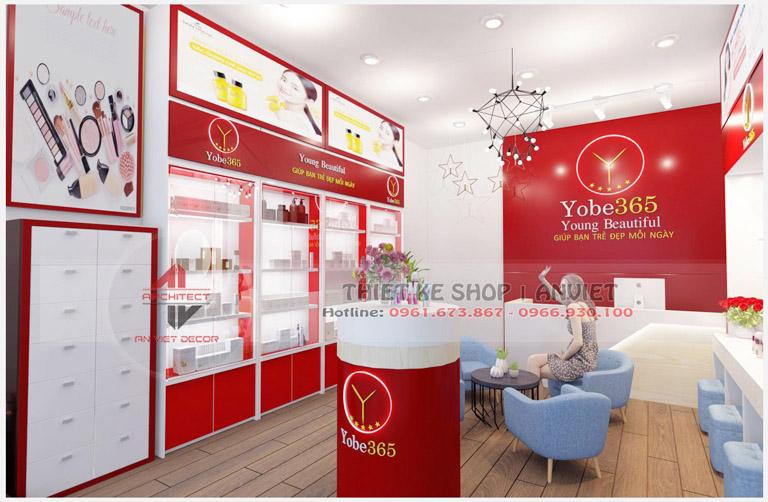 Mẫu trang trí nội thất cho shop mỹ phẩm nhập khẩu 40m2 2