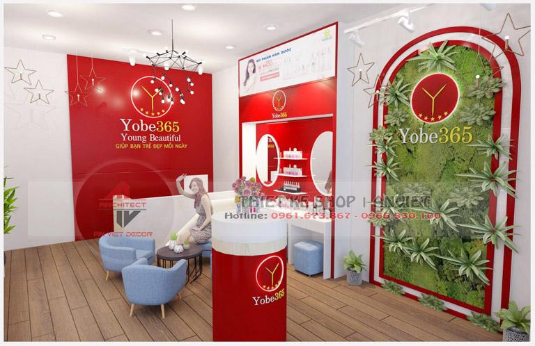 Mẫu trang trí nội thất cho shop mỹ phẩm nhập khẩu 40m2 3
