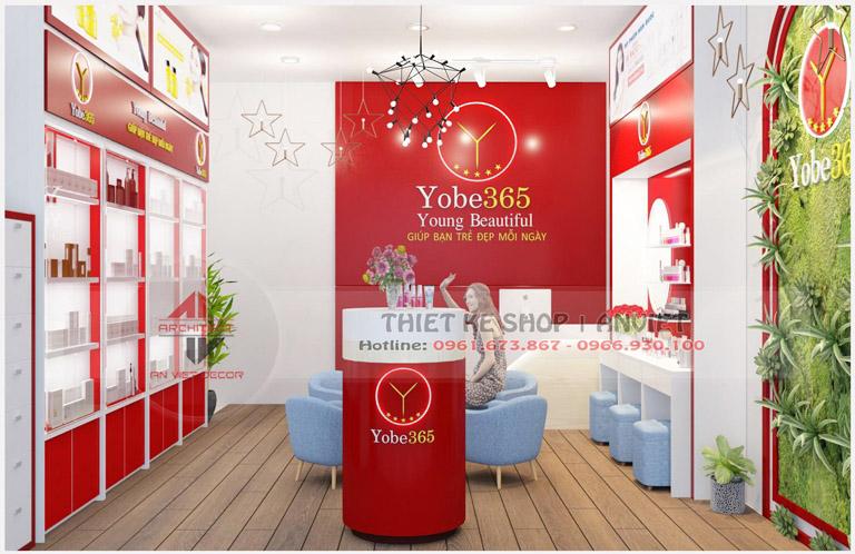 Mẫu trang trí nội thất cho shop mỹ phẩm nhập khẩu 40m2 4