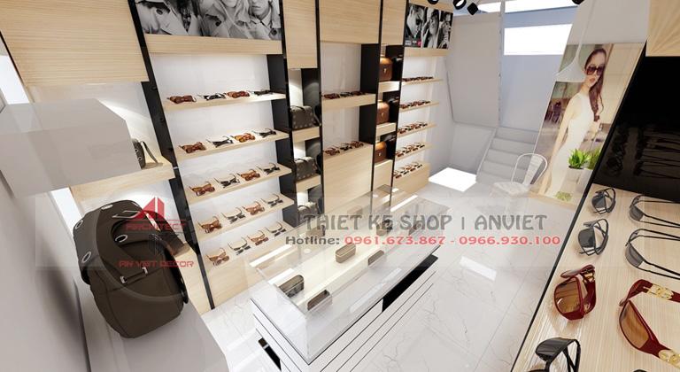 Thiết kế nội thất shop kính mắt thời trang hiện đại 30m2 1