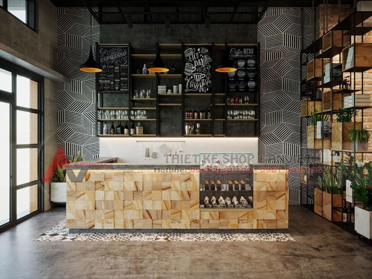 Thiết kế quán cafe phong cách Scandinavi đẹp 80m2 1