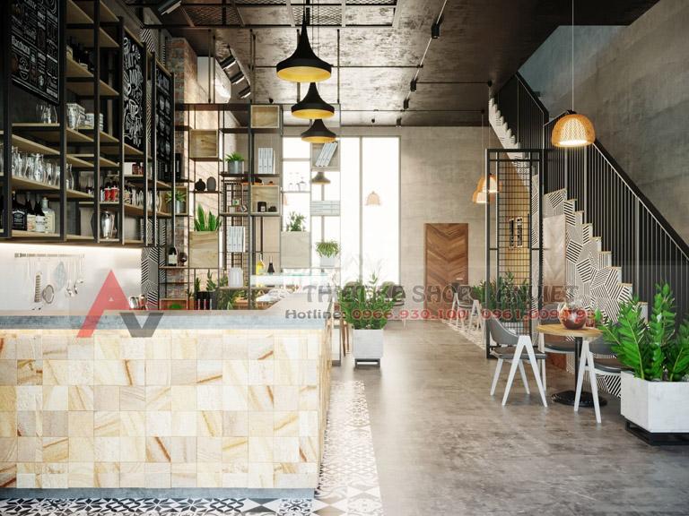 Thiết kế quán cafe phong cách Scandinavi đẹp 80m2 3