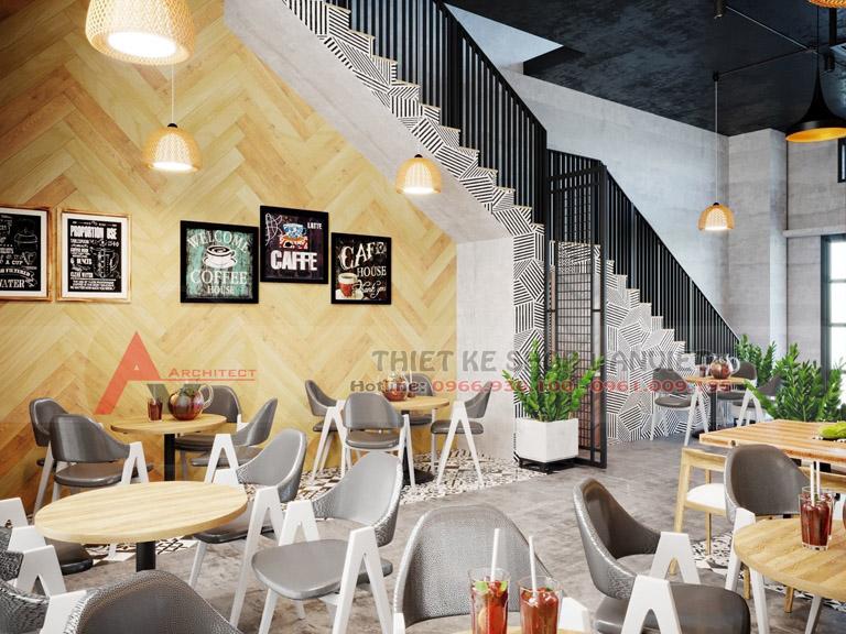 Thiết kế quán cafe phong cách Scandinavi đẹp 80m2 4