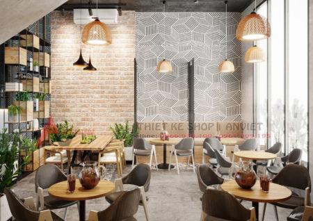 Thiết kế quán cafe phong cách Scandinavian đẹp 80m2