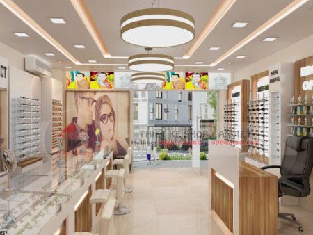 Thiết kế showroom trưng bày kính mắt thời trang 60m2
