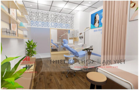 Mẫu thiết kế phòng khám nha khoa nhỏ hiện đại 30m2
