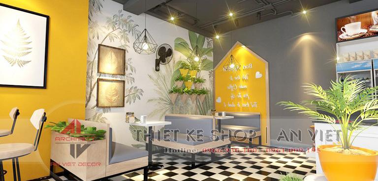 Trang trí nội thất quán cafe tại Hà nội