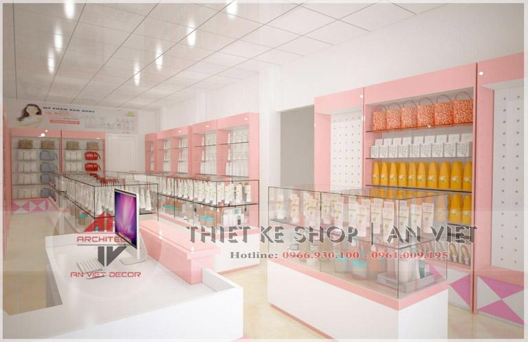 Thiết kế nội thất shop mỹ phẩm 40m2