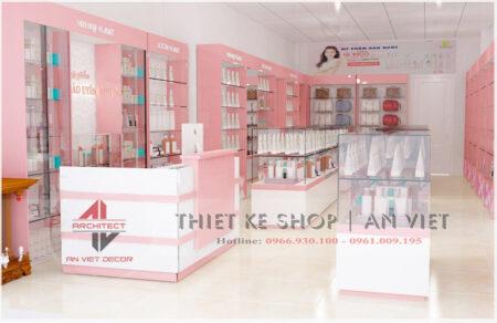 Thiết kế hoàn hiện dự án shop mỹ phẩm nhỏ đẹp 40m2 ở Hà Nội