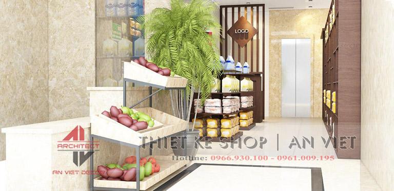 Thiết kế siêu thị tiện ích mini 80m2 ĐẸP CHUYÊN NGHIỆP