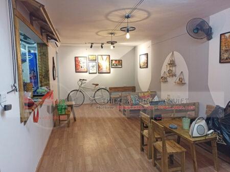 Thiết kế thi công quán trà chanh nhỏ đẹp 40m2 tại Hà Nội