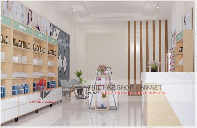Mẫu nội thất cửa hàng mỹ phẩm 60m2 tại Hải Dương - Trang trí nội thất shop