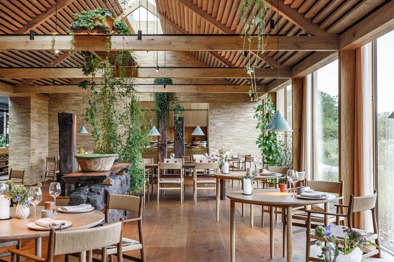 mẫu quán cafe nhà hàng phong cách rustic - mộc mạc đơn giản