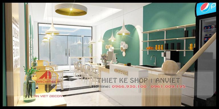 Mẫu thiết kế quán cafe hiện đại 120m2 tại Chí Linh Hải Dương Tầng 1