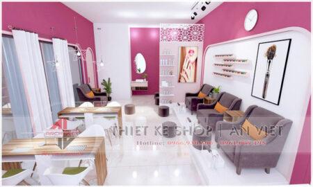 Thiết kế nội thất cửa hàng Nail Spa Lily 60m2 ở Hà Nội