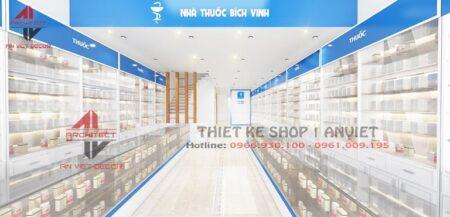 Mẫu thiết kế nhà thuốc Bích Vinh 60m ở Thái Nguyên
