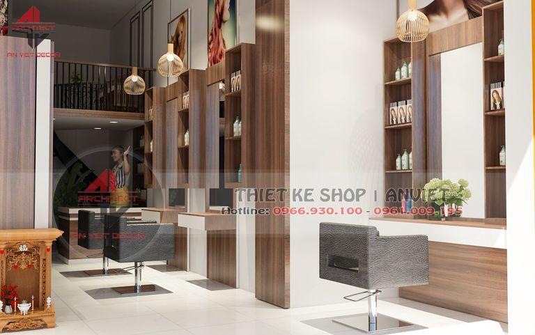 Thiết kế cửa hàng đồ thể thao kết hợp Spa 60m2 Trịnh Hoài Đức HN