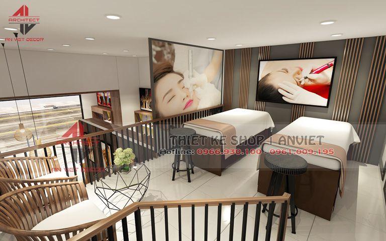 Thiết kế phòng massage spa chăm dóc da 2 giường