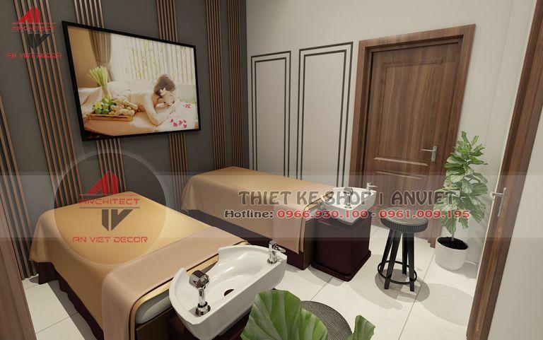 Mẫu thiết kế phòng spa Massage đơn giản hiện đại