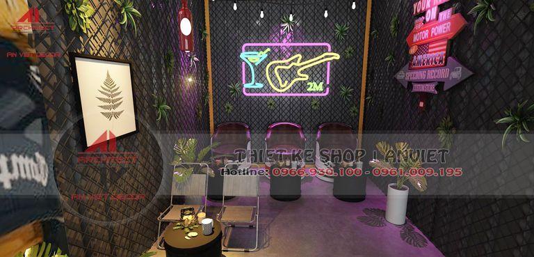 Thiết kế nội thất quán trà chanh 2M đẹp nổi bật