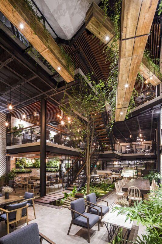 Quán Cafe An' Garden - Hà Nội Phong Cách Industrial style