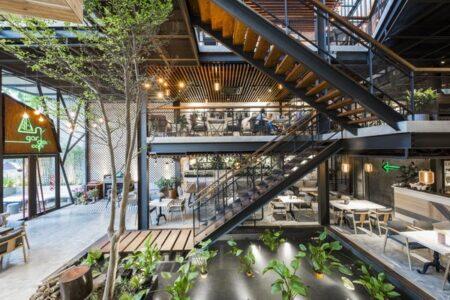 Thiết kế quán Cafe Phong Cách Công Nghiệp Industrial Style