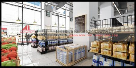Thiết kế siêu thị mini Market Lane – Chợ trong ngõ 200m2 ở Hoàng Mai