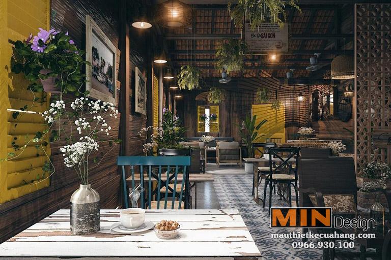 Mẫu thiết kế quán coffee Phong Cách Cổ Điển Hà Nội