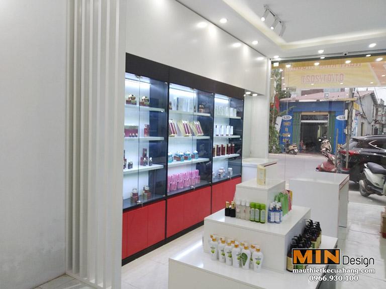 Thiết kế thi công Shop Mỹ Phẩm LuxPlus tại Hà Nội