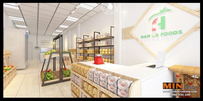 Thiết kế siêu thị thực phẩm sạch Nam Hà Food tại Hà Nội