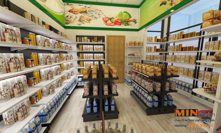 Mẫu thiết kế cửa hàng thực phẩm sạch 70m2 tại Hà Giang