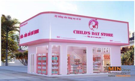 Mẫu thiết kế shop mẹ và bé Xinh Xắn 30m2 ở Ninh Bình