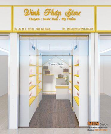 Thiết kế cửa hàng mỹ phẩm 30m2 tại KĐT Đại Thanh Hà Nội