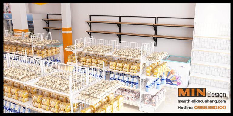 Thiết kế nội thất siêu thị kết hợp nhà sách 200m2 tại Sóc Sơn HN