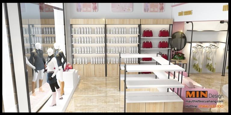 Thiết kế shop Thời Trang và Mỹ Phẩm Hoàng Yến tại Hà Nội