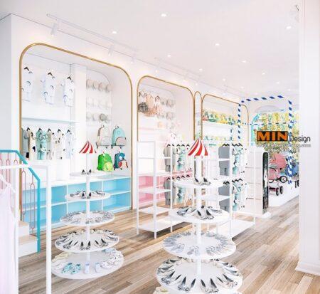 Thiết kế siêu thị mẹ và bé đẹp và chuyên nghiệp Sin Mart