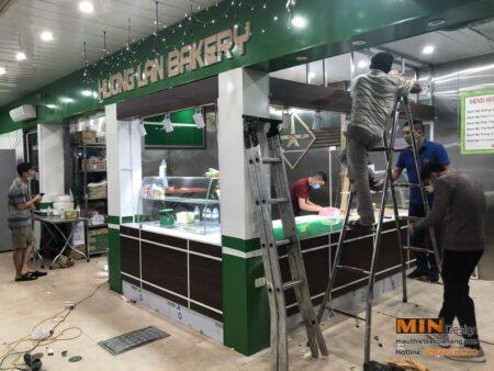 Thiết kế thi công cửa hàng bánh Hương Lan Bakery ở Hà Nội