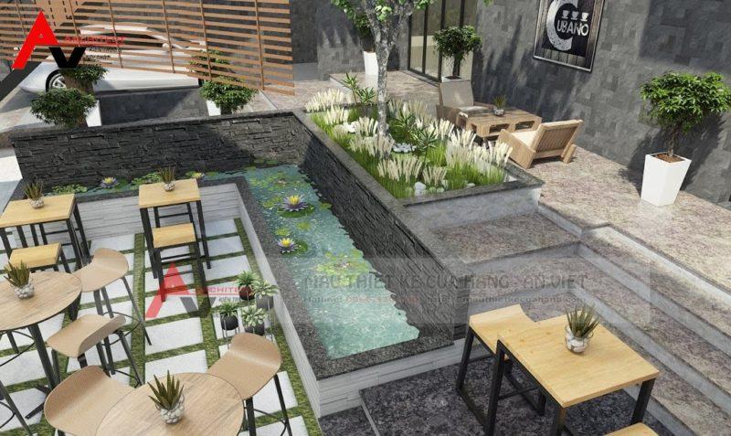 Quán cà phê sân vườn nhỏ