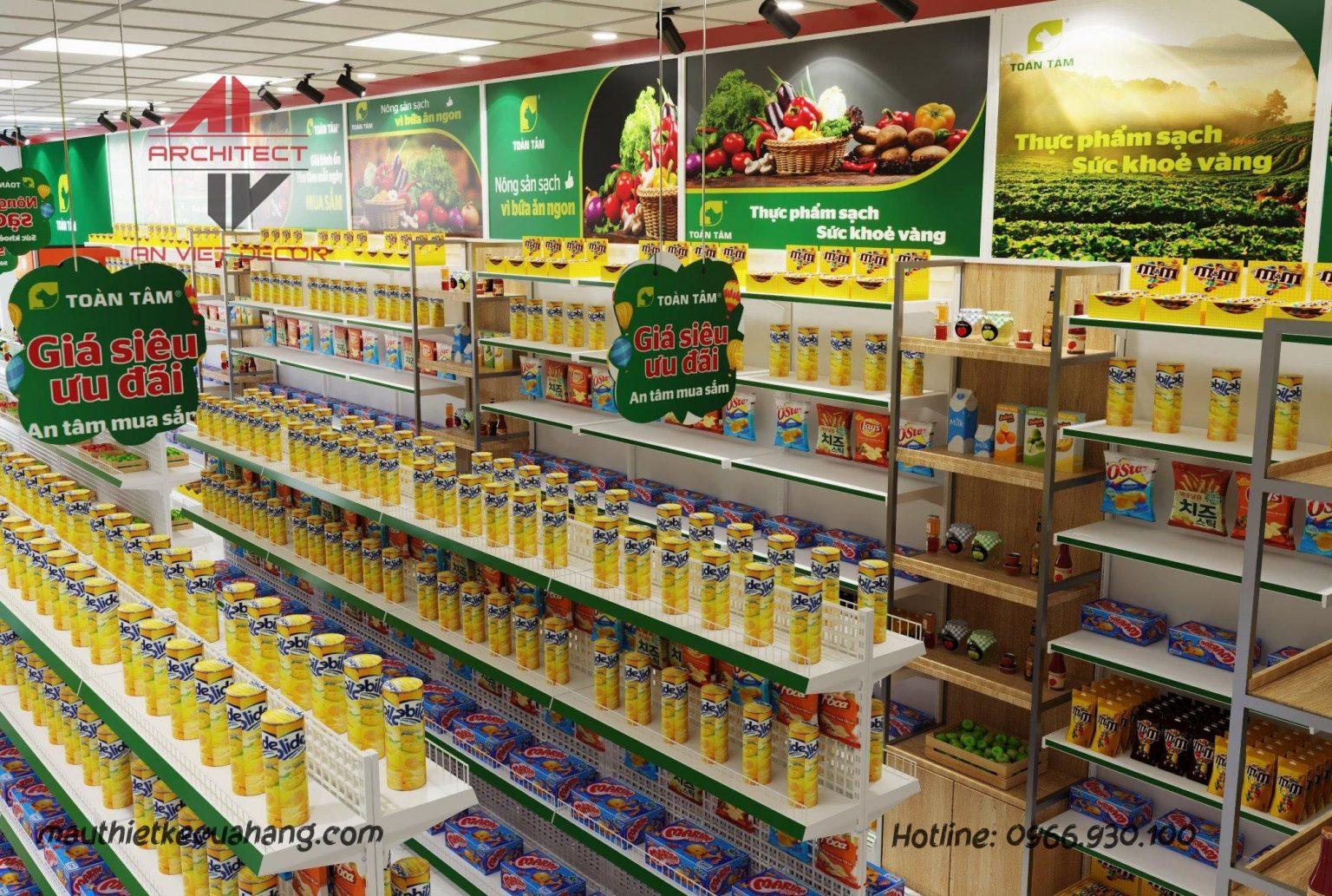 Thiết kế cửa hàng sữa Khánh Bảo 32m2