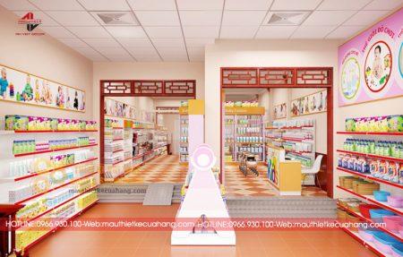 Thiết kế cửa hàng đồ sơ sinh đẹp và bắt mắt với 3 cách thiết kế