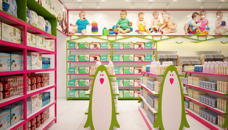 Ánh sáng trong thiết kế cửa hàng đồ sơ sinh
