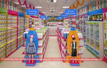 Thiết kế siêu thị mẹ và bé ấn tượng và thu hút nhất